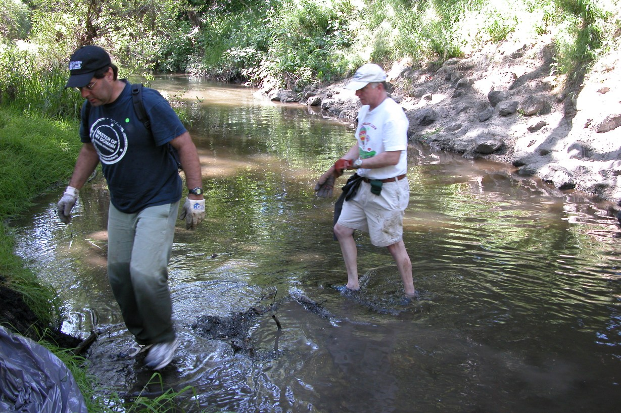 Yes, grown-ups and oldsters can have fun in the creek too!