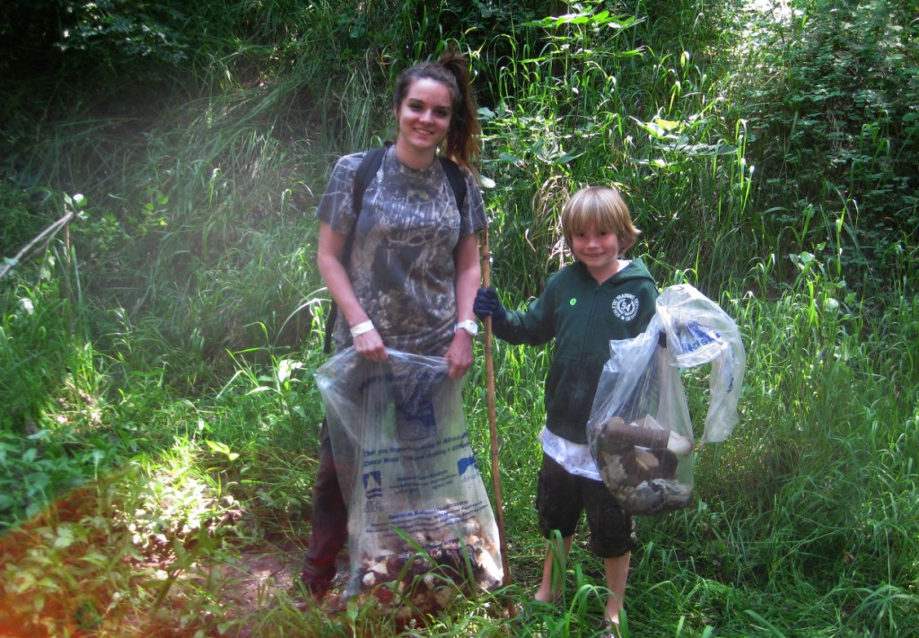 It's a gratifying feeling to remove the ugly trash from our lovely creek, and demonstrate how much you care.