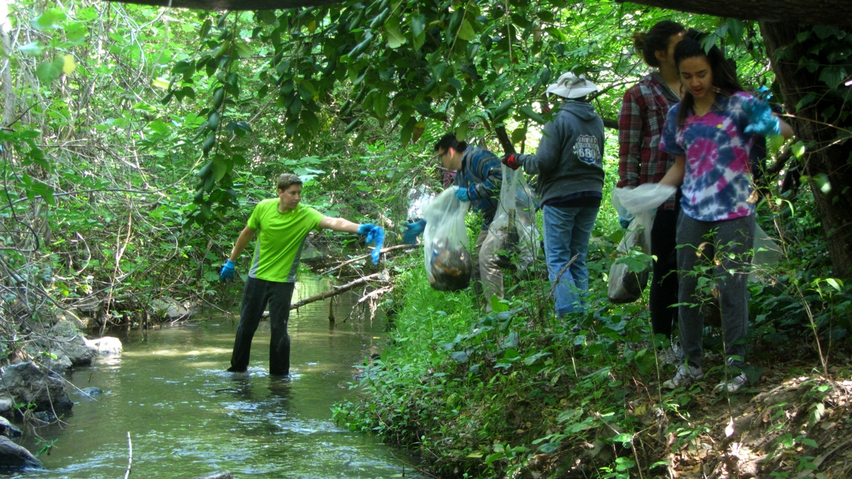 Remind your friends that each person must register at this site for a fun morning beautifying our creek.
