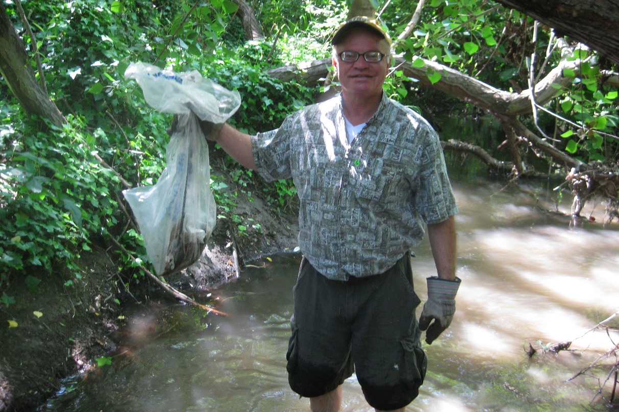 The fish and other wildlife will benefit from the trove of trash you take out of our creek.