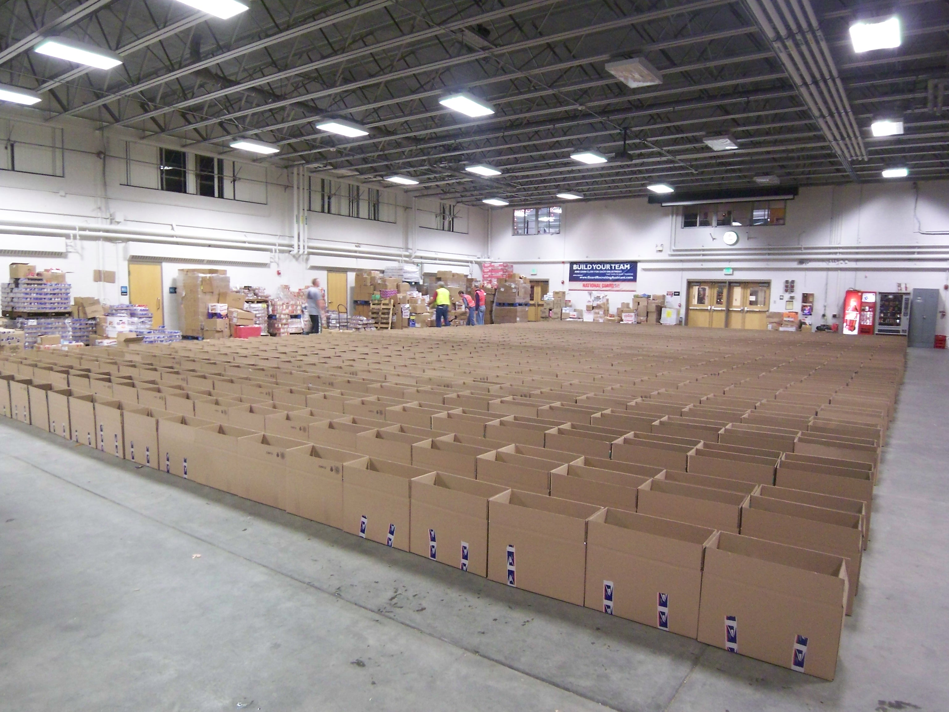 Boxes to be filled