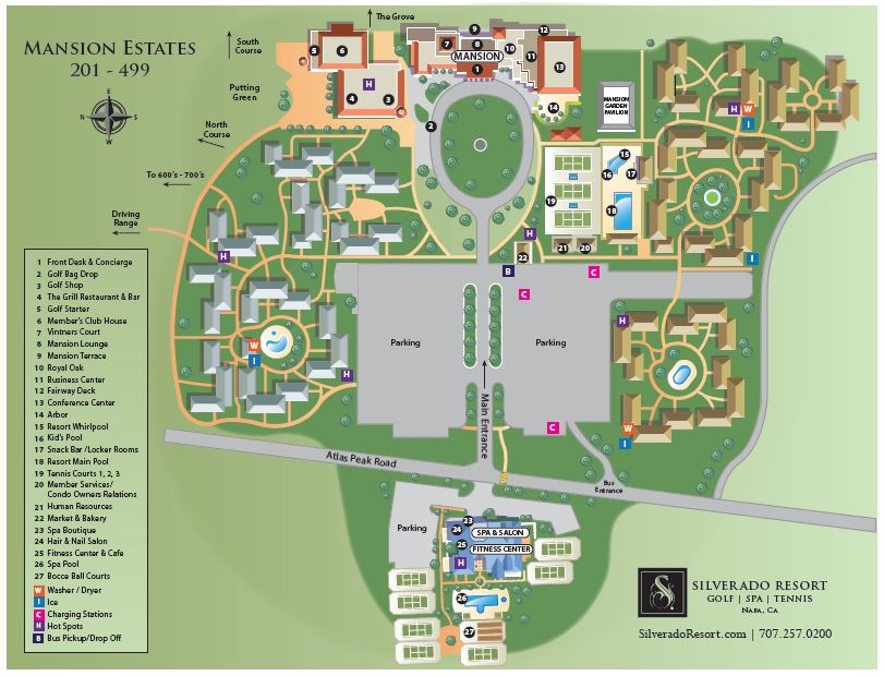Map of Silverado Resort grounds