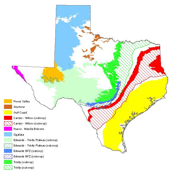 Texas Aquifers Map