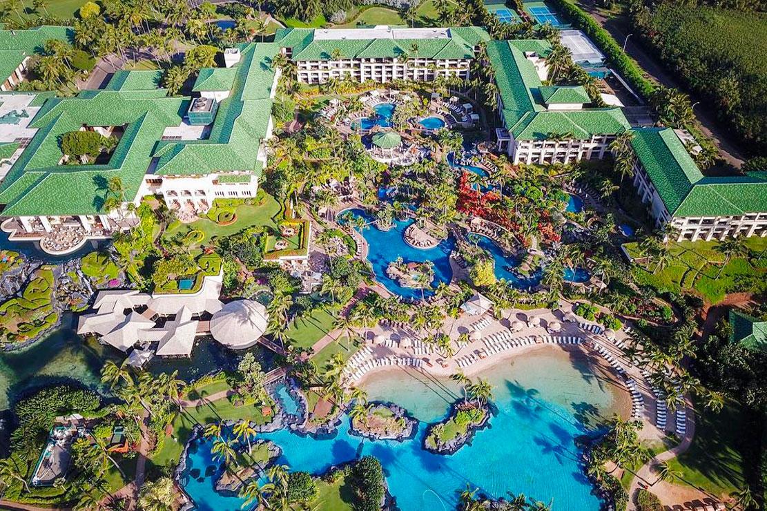 Aerial View of Grand Hyatt Kauai